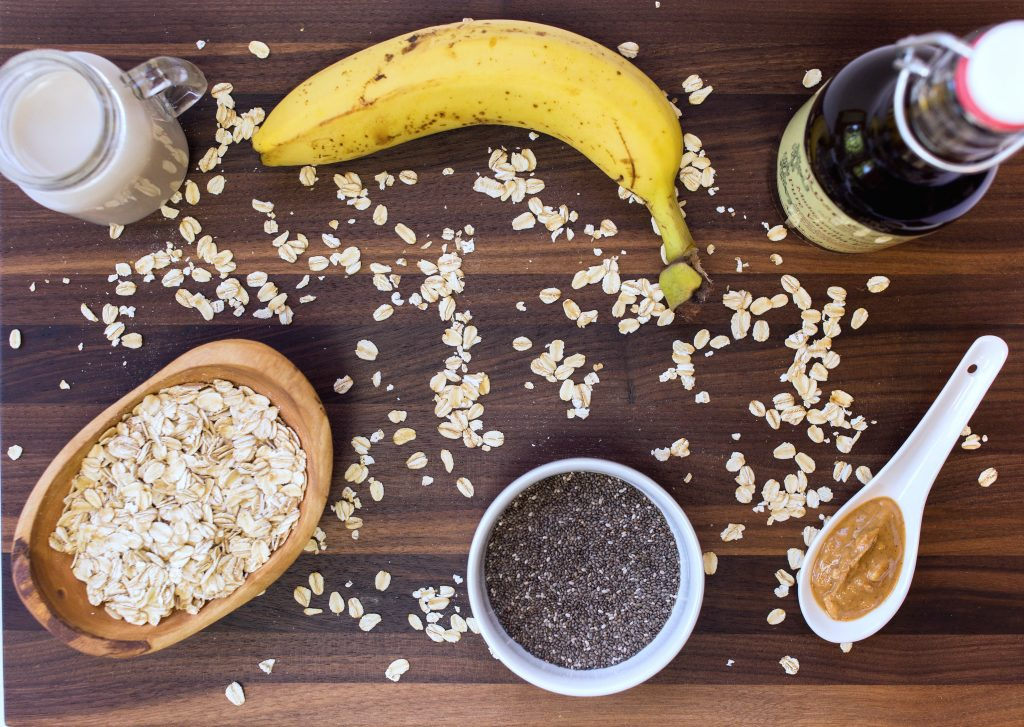 Nutty Overnight Oat Ingredients