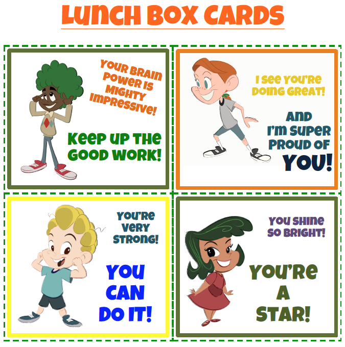 The Rootlets School Lunch Box Cards